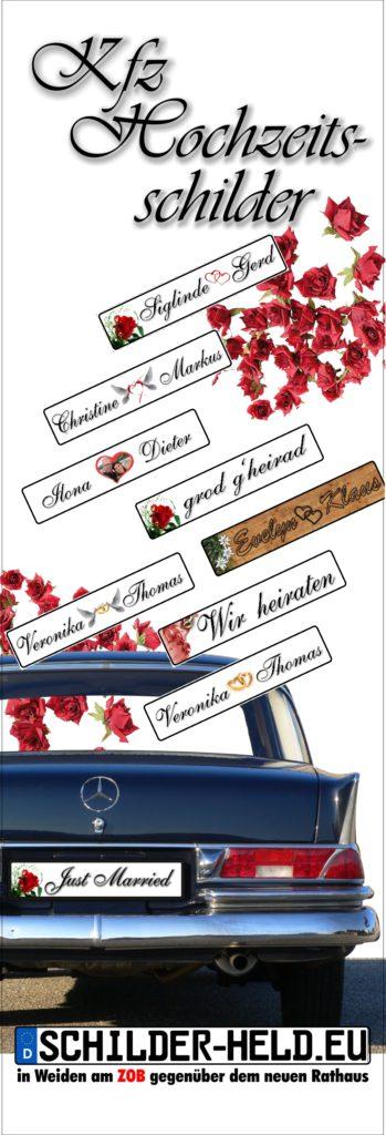 Hochzeits Kennzeichen Weiden