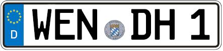 Kfz-Kennzeichen-Weiden