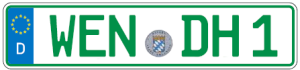europa-kennzeichen-gruen